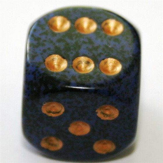 Chessex Speckled Golden Cobalt W6 12mm