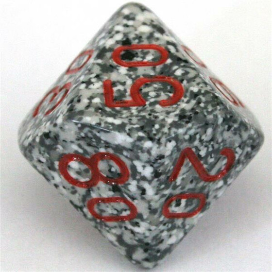 Chessex Speckled Granite D10%